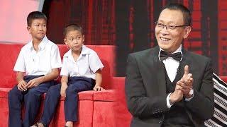 MC Lại Văn Sâm bất ngờ tặng 2 tháng lương cho hai anh em nhà nghèo đầy tài năng
