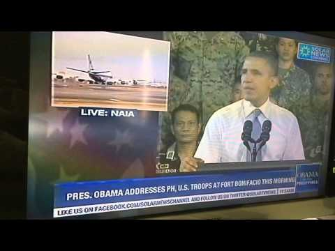 Pres Obama's Speech Live In Manila Philippines