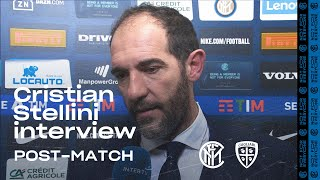 "INTER 1-1 CAGLIARI | CRISTIAN STELLINI EXCLUSIVE INTERVIEW: ""We weren't good at finishing"""