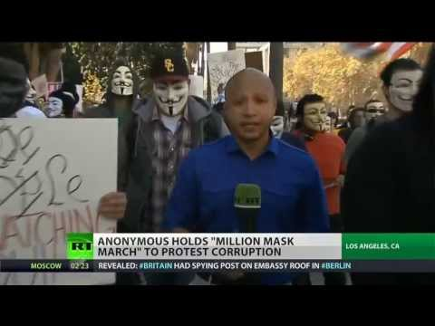 Anonymous calls for 'Million Mask March' protest around the world