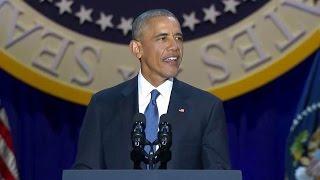 FULL. Pres. Obama Farewell Speech in Chicago, IL. Jan. 10, 2017.