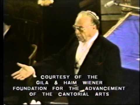 Cantor David Bagley Sings Ani Maamin 1989 Moscow Choral Synagogue