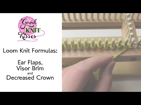 VLOG Loom Formulas Ear flaps, Visor Brims & Decreased crowns