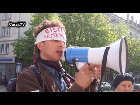 Hyde Park susținut de comuniști la protest