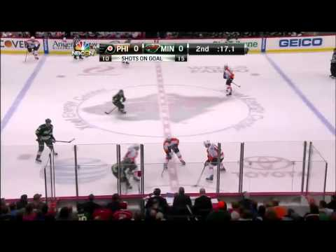 Philadelphia Flyers vs Minnesota Wild 02.12.2013