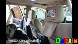 2008 Toyota Tundra Car Headrest DVD Monitors Installation