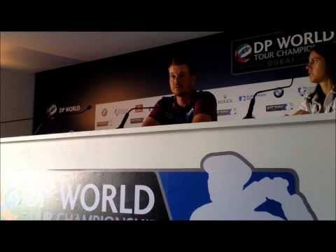Henrik Stenson discussing his wrist injury at the 2013 DP World Tour Championship