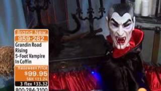 Grandin Road Rising 5-Foot Vampire In Coffin