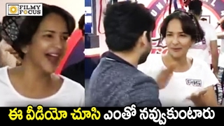 Watch: Many Tollywood actors @ Gym; Manchu Lakshmi's Funny..