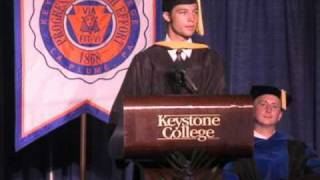 Outstanding Grad, Keystone College Commencement  2010.flv