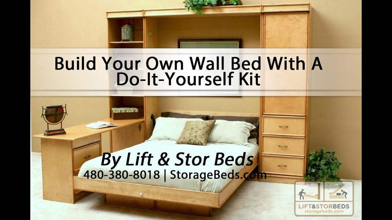 build your own wall bed with a do it yourself kit from lift stor beds youtube. Black Bedroom Furniture Sets. Home Design Ideas