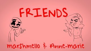 Marshmello & Anne-Marie - FRIENDS (Lyric Video) *OFFICIAL FRIENDZONE ANTHEM*