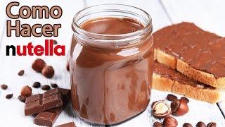 Haciendo crema de Nutella en casa!