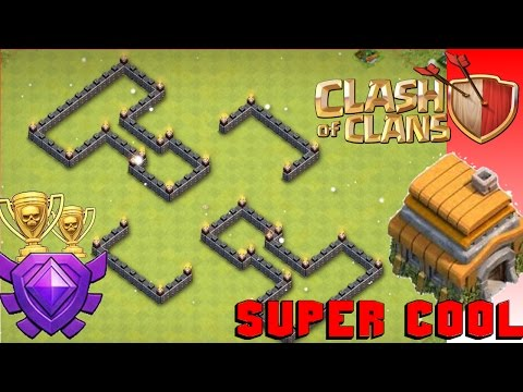 New SUPER COOL Th6 Trophy/War Base - Anti-Giant
