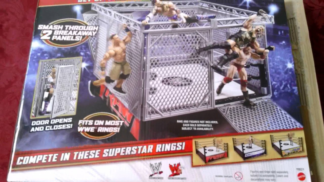 Wwe steel cage accessory youtube for Fishing license ny walmart