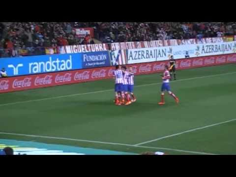 Gol de Miranda. Atlético de Madrid 4 - 0 Real Sociedad  2013/2014
