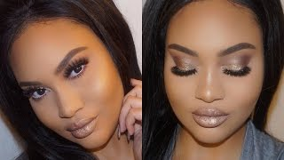 Get Ready With Me! Hair & Makeup | Nude Glam