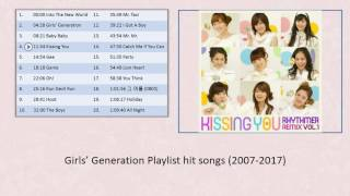 Girls' Generation 소녀시대 Playlist hit songs (2007-2017)