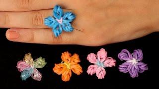 Rainbow Loom Nederlands Flower Ring| Loom Bands