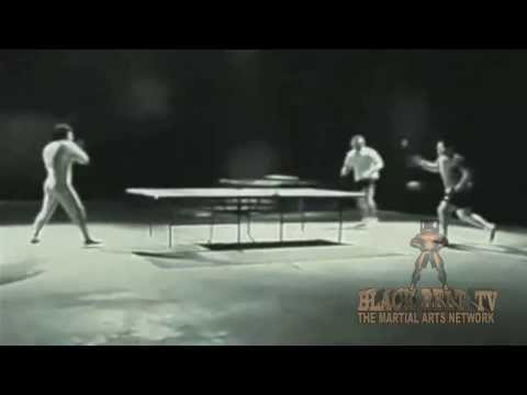 BLACK BELT TV / THE MARTIAL ARTS NETWORK Presents  Bruce Lee Ping Pong with Nunchucks