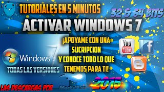 ACTIVAR WINDOWS 7 ULTIMATE (TODAS LAS VERCIONES) 32 Y 64