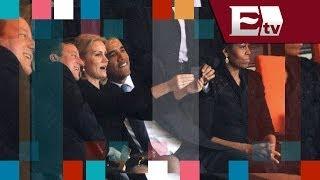 Barack Obama roba cámara en funeral de Mandela; Michelle Obama celosa / Entre Mujeres