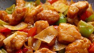 Pollo agridulce estilo chino