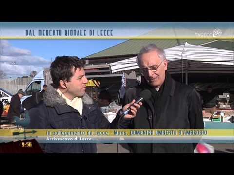 Al mercato con l'Arcivescovo di Lecce