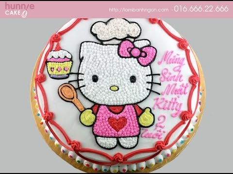 Mẫu bánh sinh nhật Hello Kitty đẹp, đáng yêu dành tặng các bé gái, bạn gái
