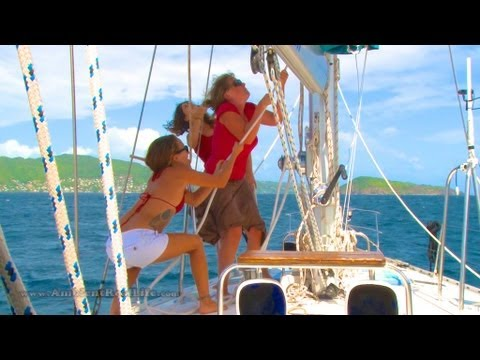 SIRENS OF SAILING - Day 4 - Sailing Lessons to Petit Nevis, Grenadines, Caribbean!