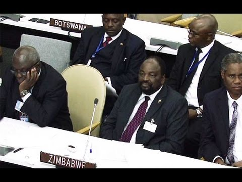 Robert Mugabe had harsh words for countries that imposed sanctions against his country.