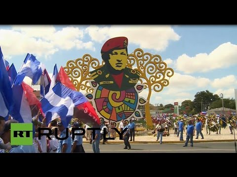 Nicaragua: President Ortega honours the late President Hugo Chavez