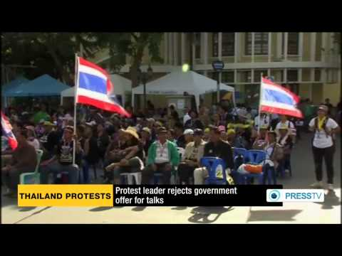 กำนันสุเทพ Thailand Protests Defiant protesters snub PM talks plea