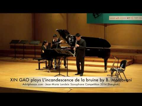 XIN GAO plays L'incandescence de la bruine by B Mantovani