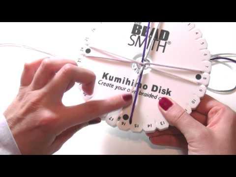 Beading Ideas - How to use Kumihimo loom part.1