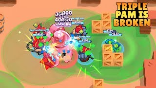 TRIPLE PAM IS BROKEN IN BOSS FIGHT | Brawl Stars Boss Fight Troll