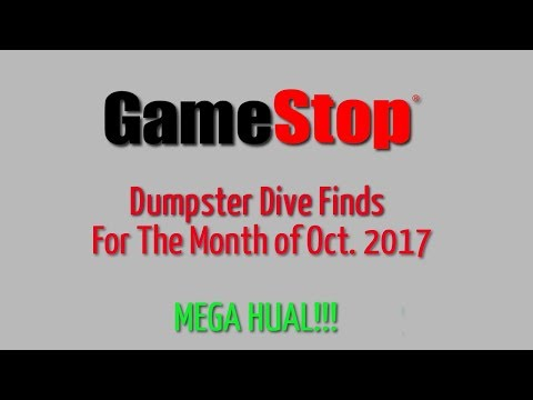 GameStop Dumpster Dive Oct. 2017 - Part 1 - Finds for the month