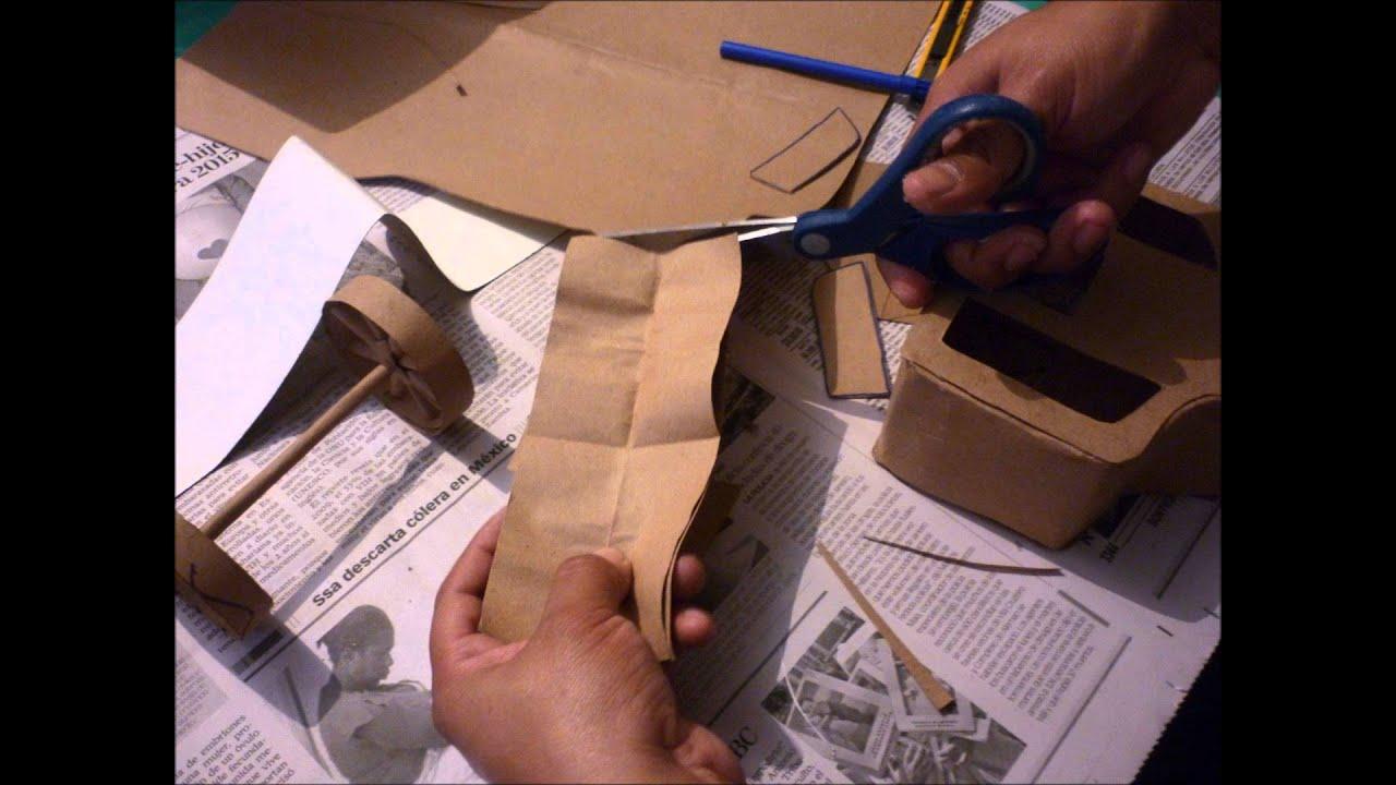 C mo hacer una carreta de papel paso a paso youtube for Como hacer una pileta de natacion de material