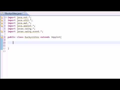 Intermediate Java Tutorial - 29 - Making a Simple Networking Applet