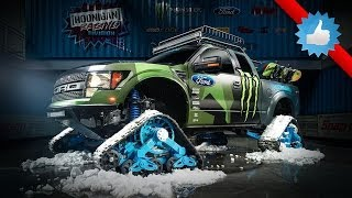 Ken Block's Ford F-150 RaptorTrax Is Ultimate Snowmobile