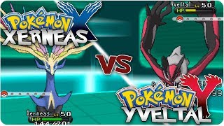 Pokemon X & Y: Xerneas Vs. Yveltal Legendary Battle!