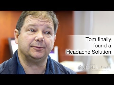 Tom Discovers an Effective Migraine Treatment in Charlotte NC
