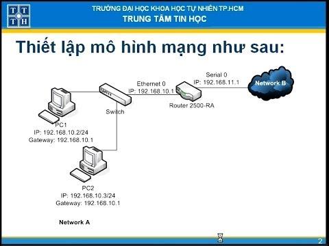 Thiết lập đường đi mặc định trên ROUTER Cisco 2500