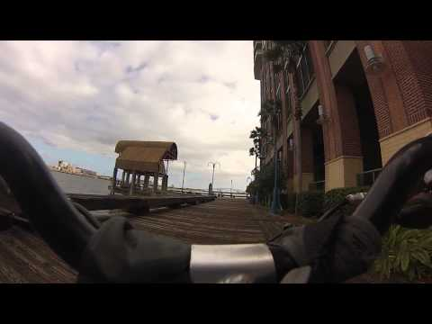 BIKE CAM  SOUTHBANK RIVER WALK GOING EAST JACKSONVILLE FLORIDA  GO PRO