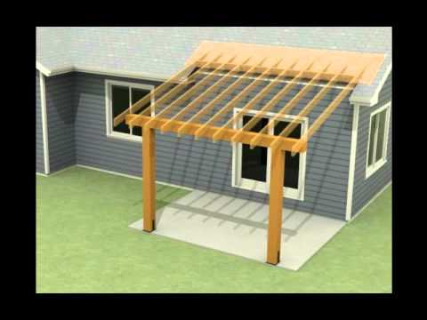 design of a roof addition over an existing concrete patio in bozeman mt part 1 youtube. Black Bedroom Furniture Sets. Home Design Ideas