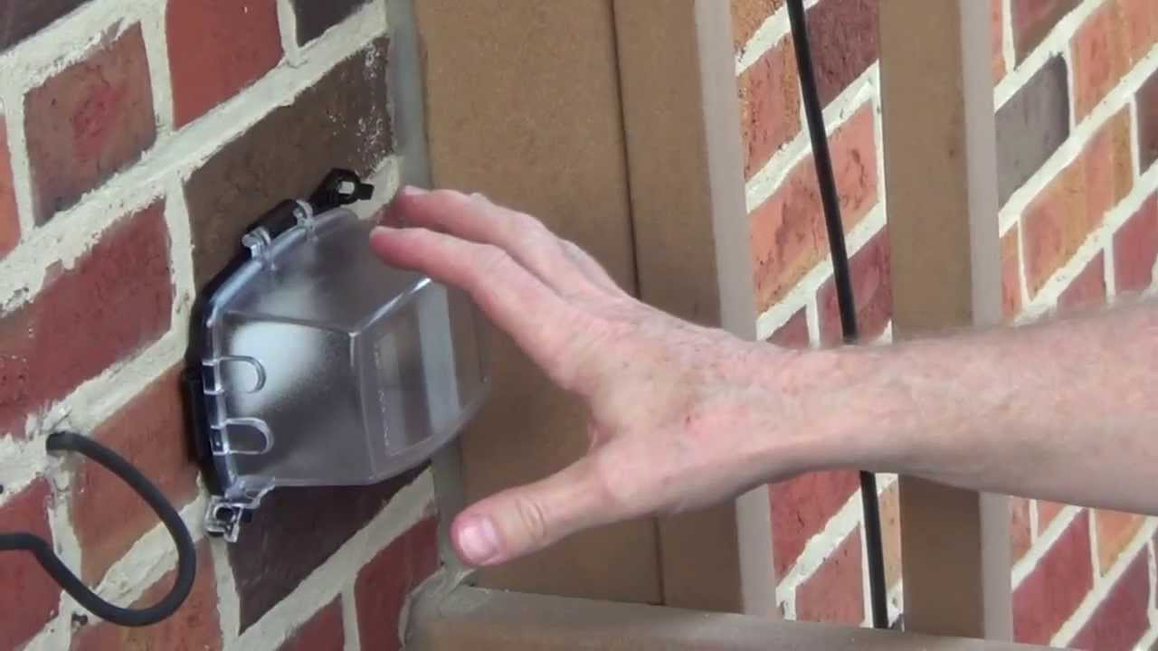 Exterior Outlet Cover Outdoor Outlet Cover Youtube