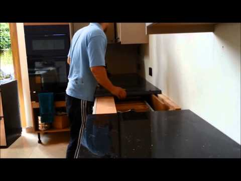 Star Galaxy Kitchen Worktop and Island - Production and Fitting Process - July 2014
