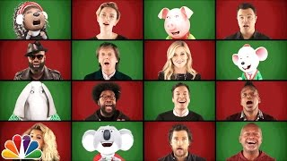 """Jimmy Fallon, Paul McCartney and """"Sing"""" Cast Perform """"Wonderful Christmastime"""" (A Cappella)"""