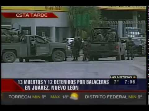 Fuerte Balacera en Reynosa Deja 13 Sicarios Muertos y 12 Detenidos