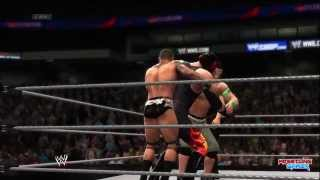 WWE Battleground 2014 Fatal 4 Way WWE World Heavyweight Championship Match Result!